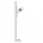 NUMCOMg-MC Microphone client sur colonne fixée sur le comptoir du guichet.…